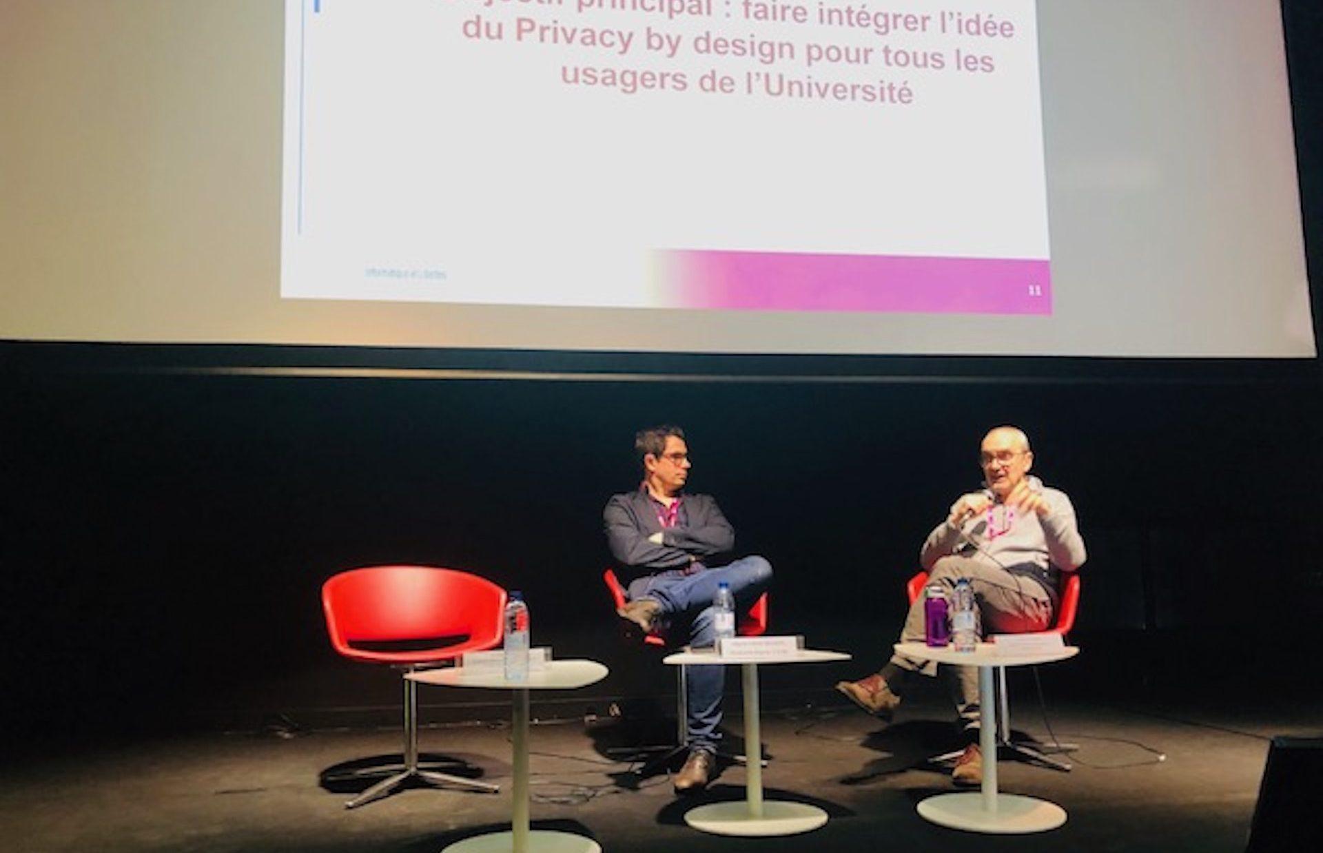 Grégory Carlin et Jean-Luc Tessier à la journée EGIDE'19