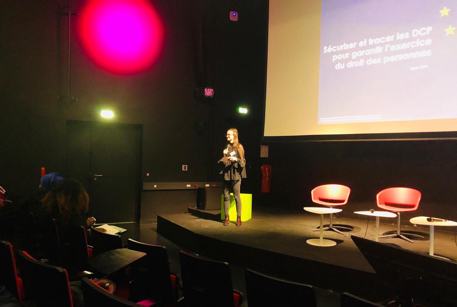 Une présentation de Julie Catteau lors de la journée EGIDE'19