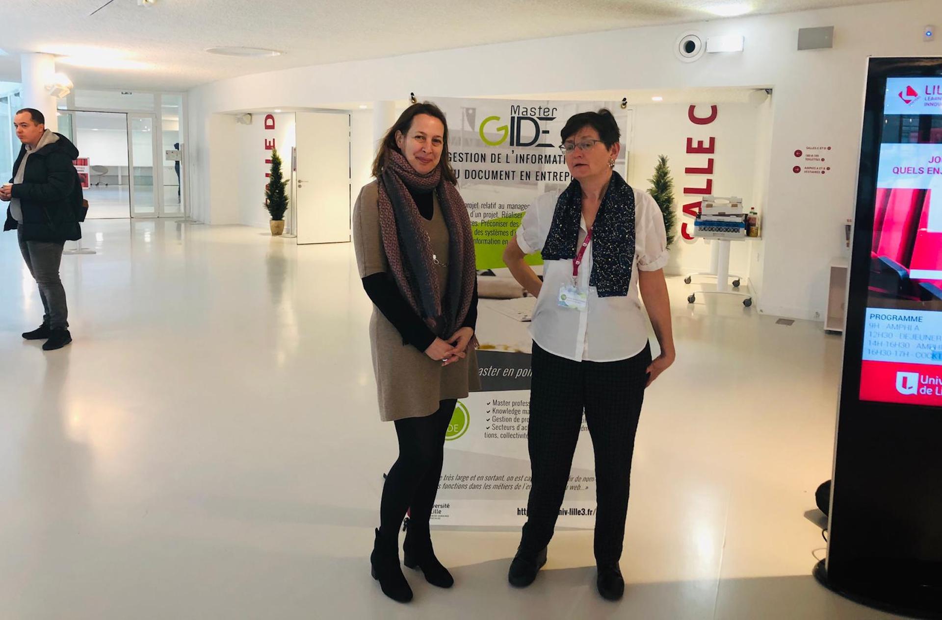Christelle Rondet et une intervenante à la journée EGIDE'19