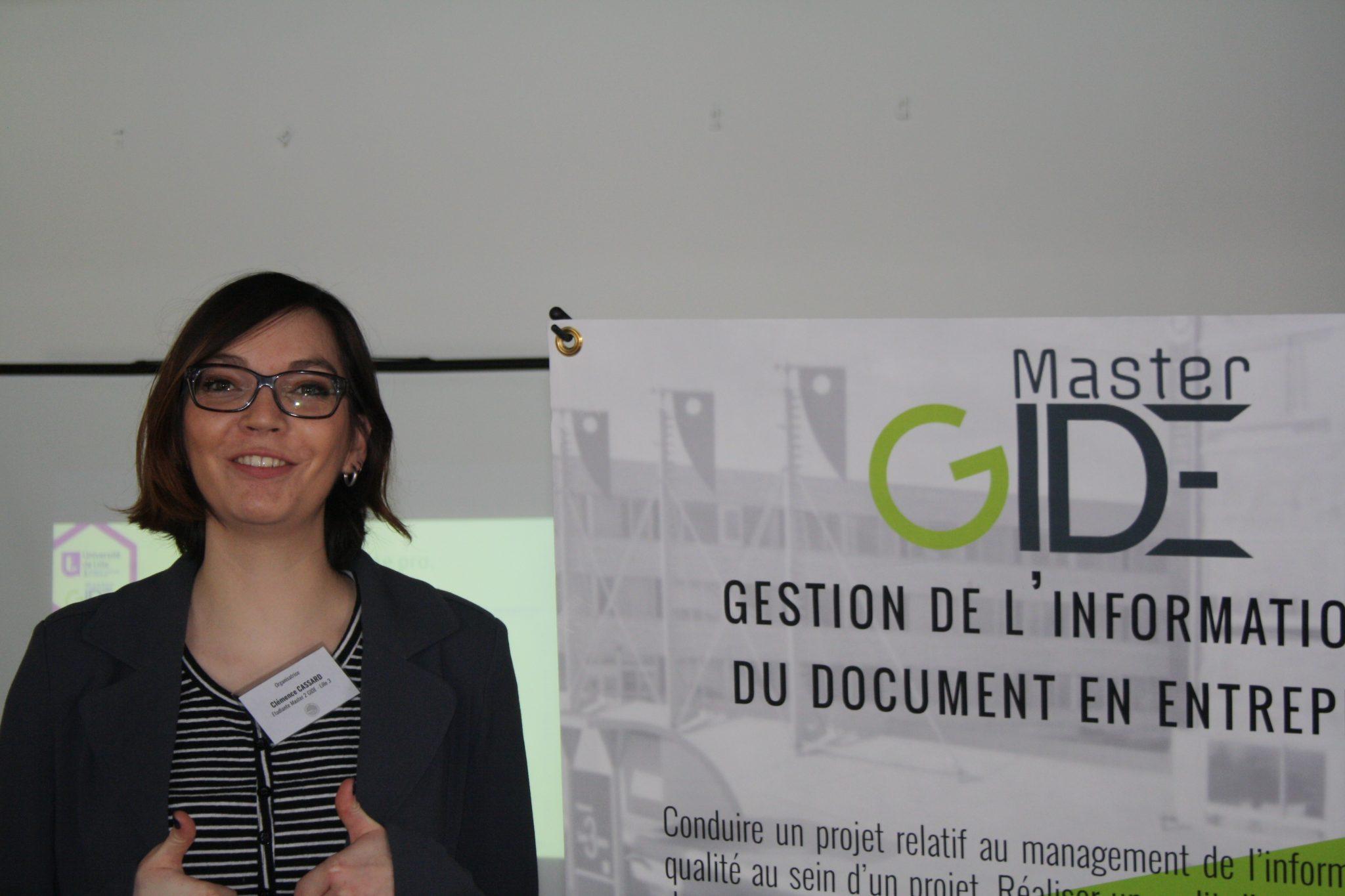 Une organisatrice de la journée EGIDE'17