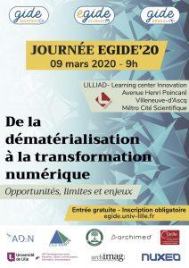 Affiche journée EGIDE'20
