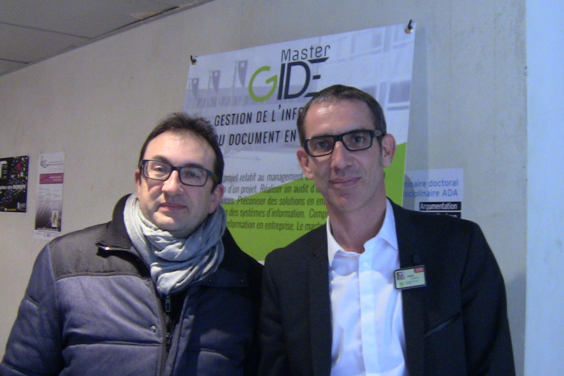 Alain Garnier et Xavier Gendron à la journée EGIDE'16