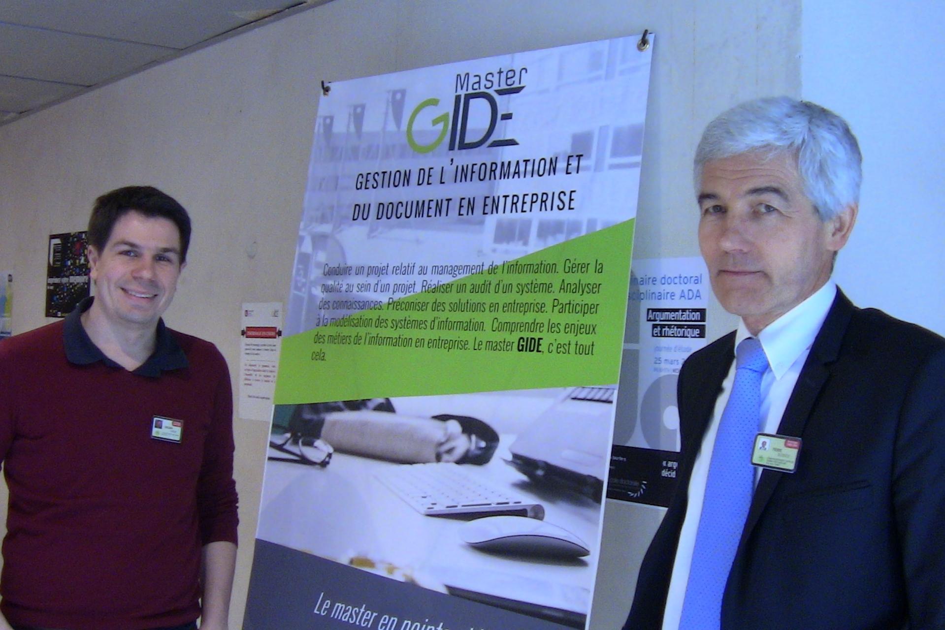 Pierre Decrocq et Gregory Carlin à la journée EGIDE'16